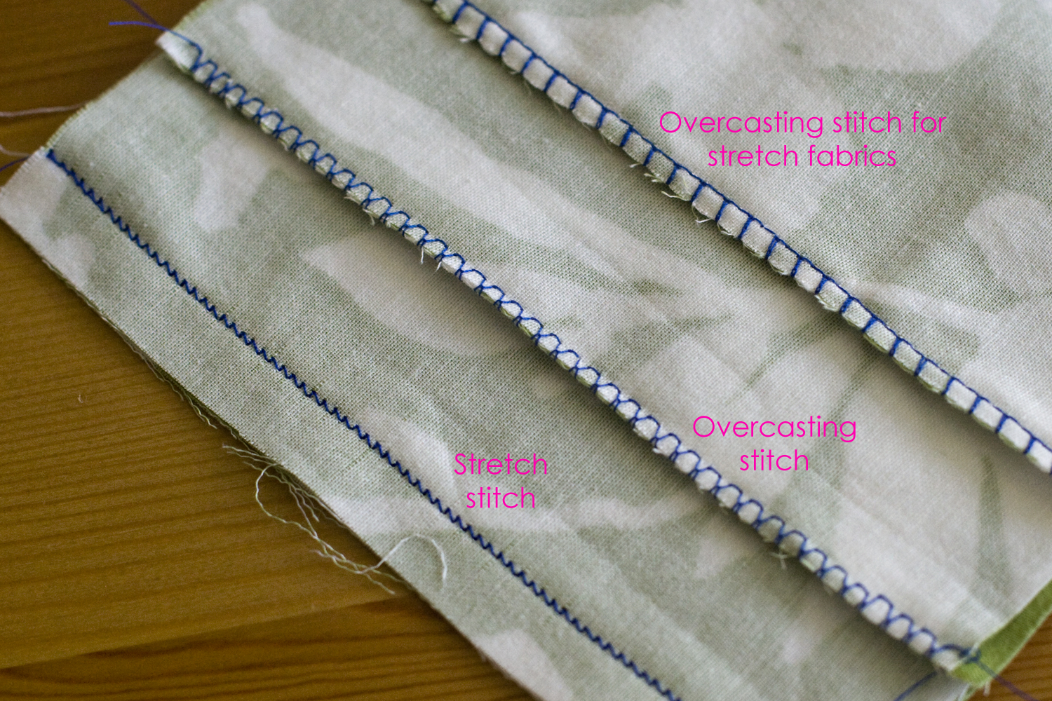 different stitches on sewing machine