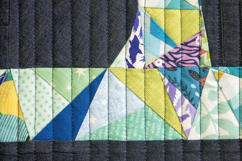 Sewing Machine Paper-Pieced Mug Rug / saroy.net