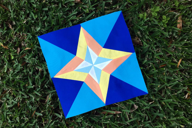 Barn Quilt Block of the Month – North Star : north star quilt block - Adamdwight.com